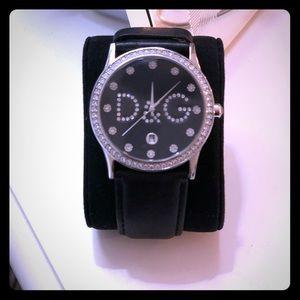D&G Watch with Swarovski Crystals